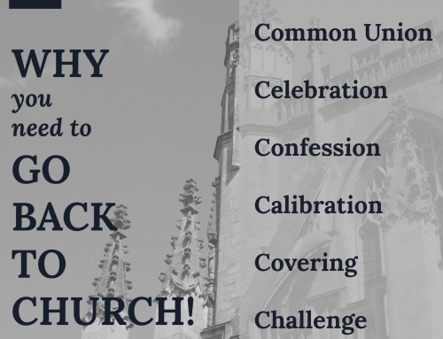 Why You Need To Go Back To Church